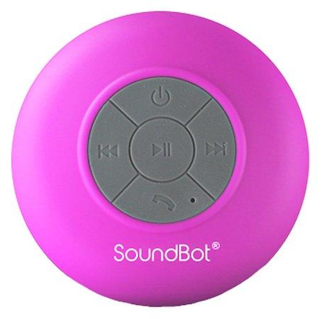 Pink bluetooth shower speaker