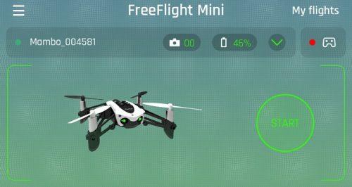 Parrot FreeFlight Mini App - Landing Page