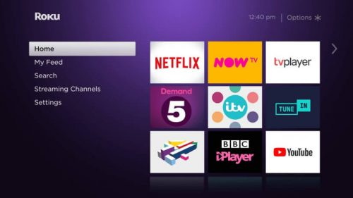 Roku Express - Home Screen